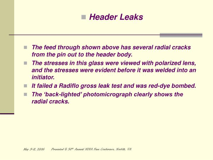 Header Leaks