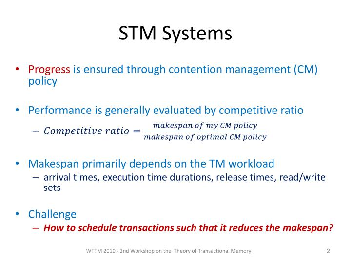 Stm systems