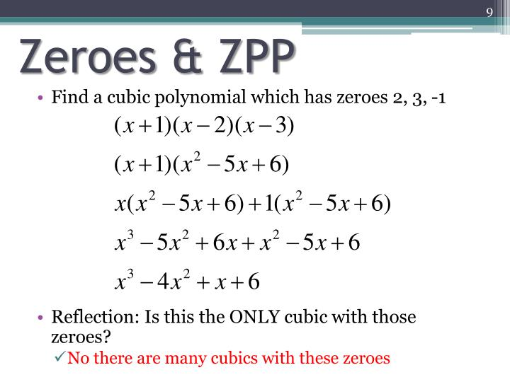 Zeroes & ZPP
