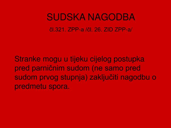SUDSKA NAGODBA