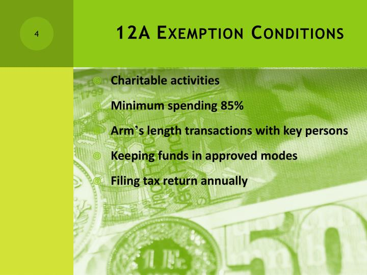 12A Exemption Conditions