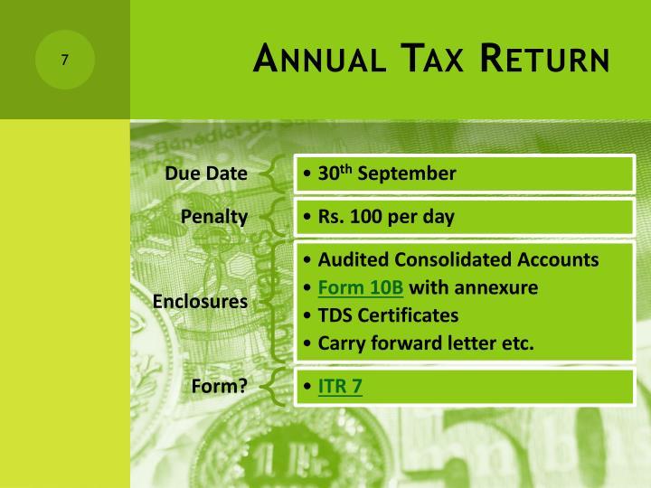 Annual Tax Return