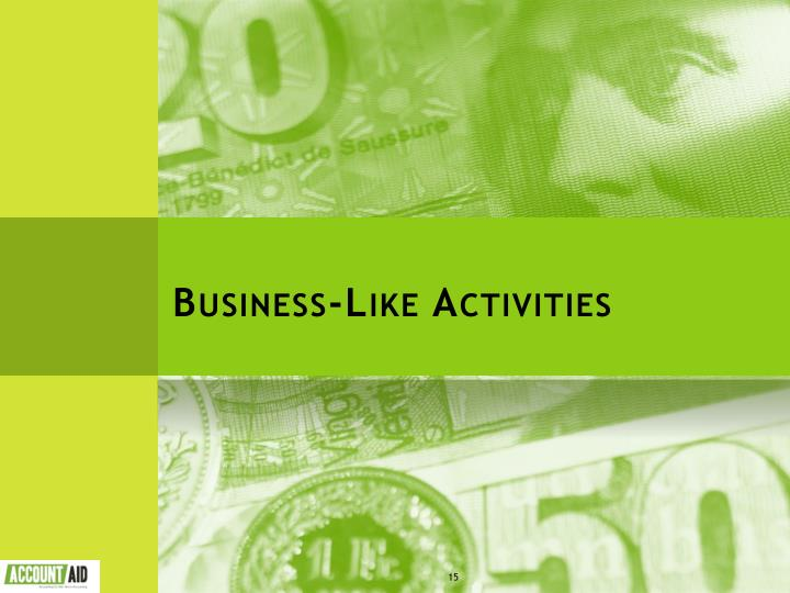 Business-Like Activities