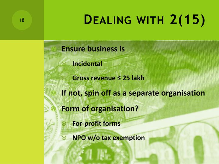Dealing with 2(15)
