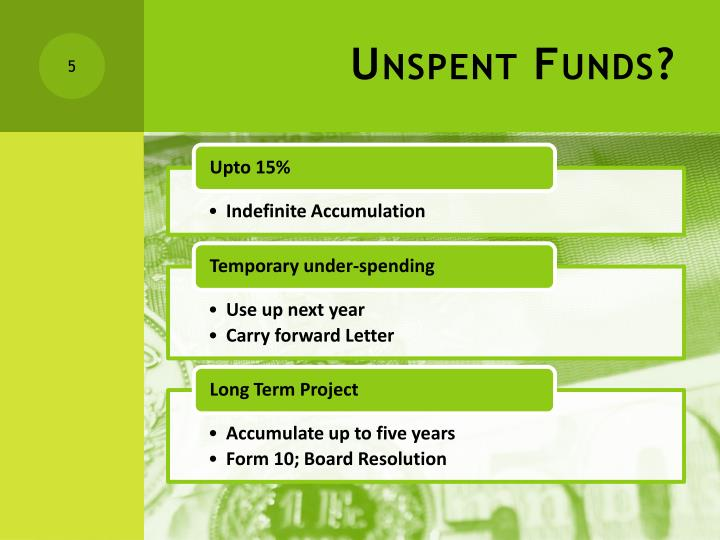 Unspent Funds?