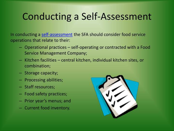 Conducting a Self-Assessment