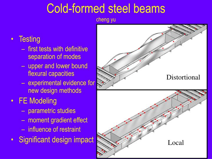 Cold formed steel beams cheng yu