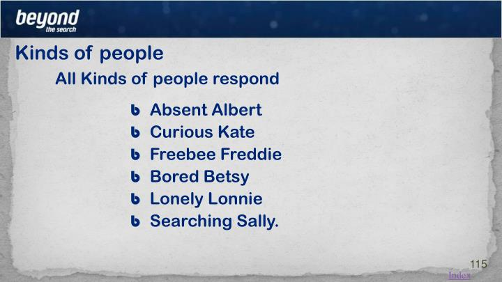 Kinds of people