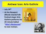 antiwar icon arlo guthrie