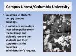 campus unrest columbia university