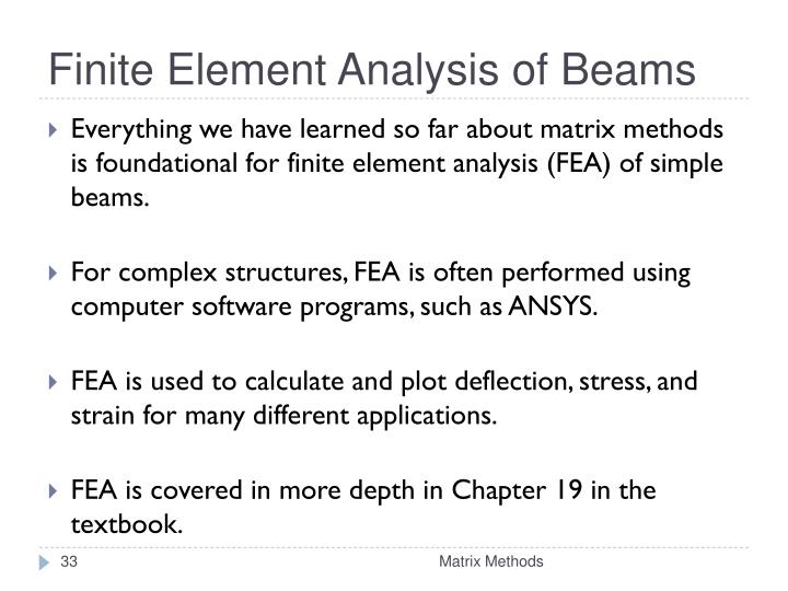 Finite Element Analysis of Beams