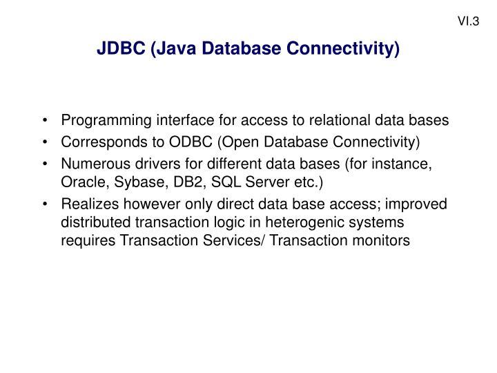 Jdbc java database connectivity