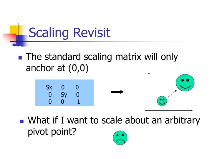 What if I want to scale about an arbitrary pivot point?