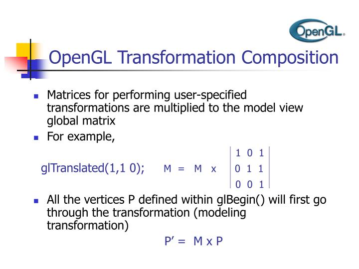 OpenGL Transformation Composition