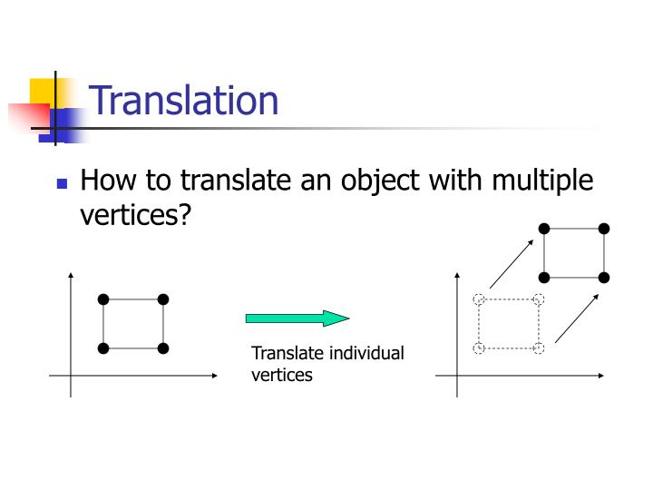 Translate individual