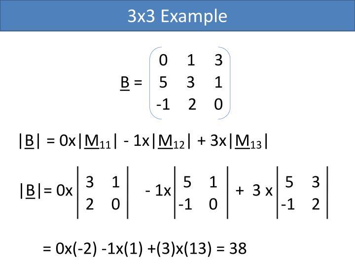 3x3 Example