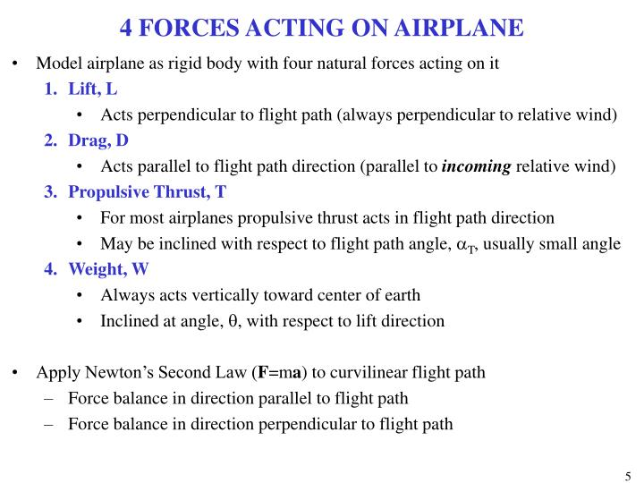4 FORCES ACTING ON AIRPLANE