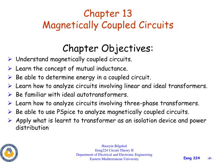 Chapter 13 magnetically coupled circuits