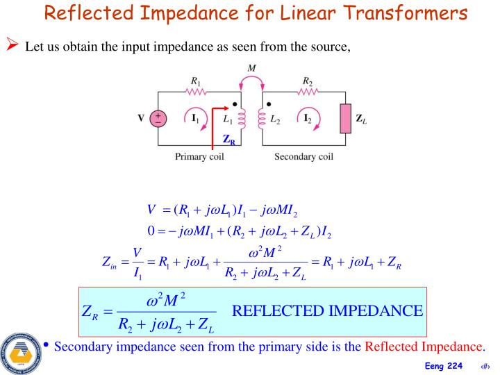 Reflected Impedance for Linear Transformers