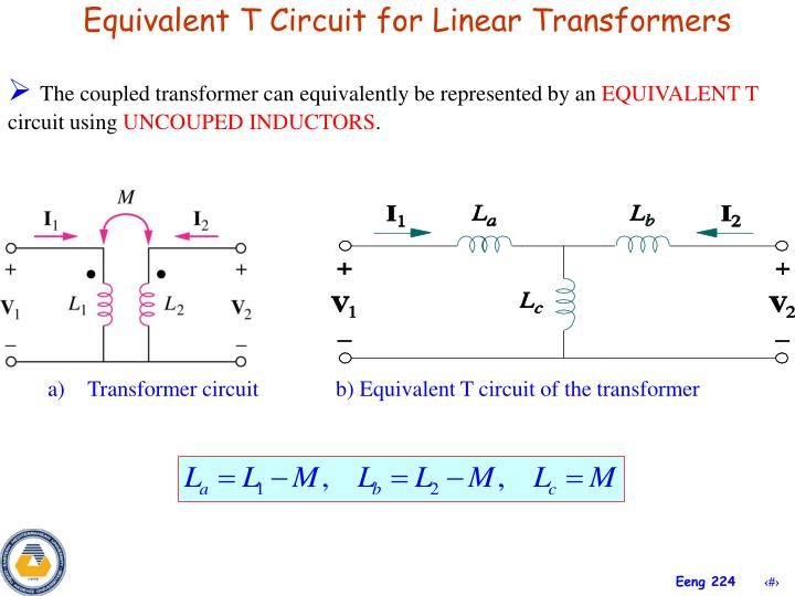 Equivalent T Circuit for Linear Transformers