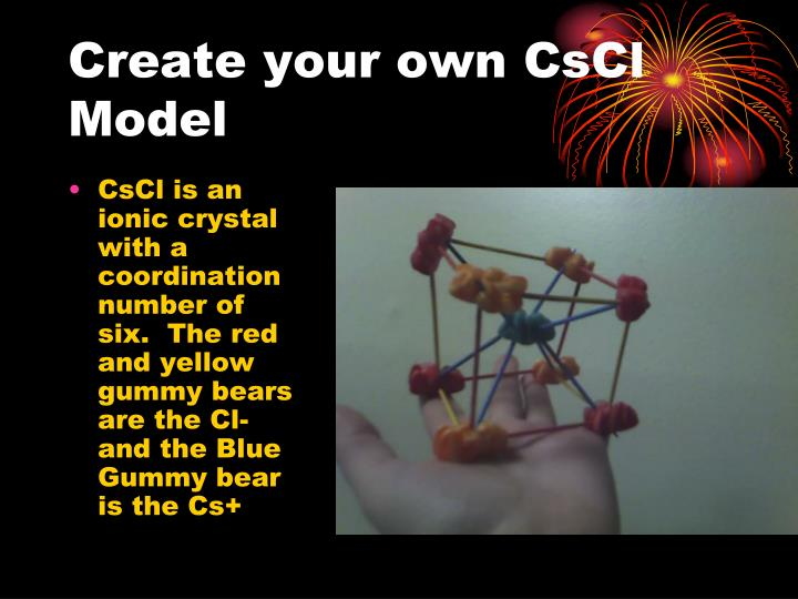 Create your own CsCl Model