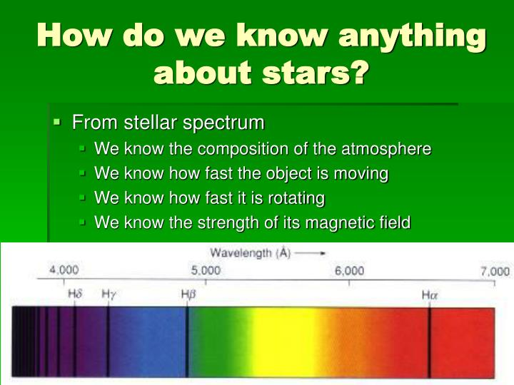 How do we know anything about stars?