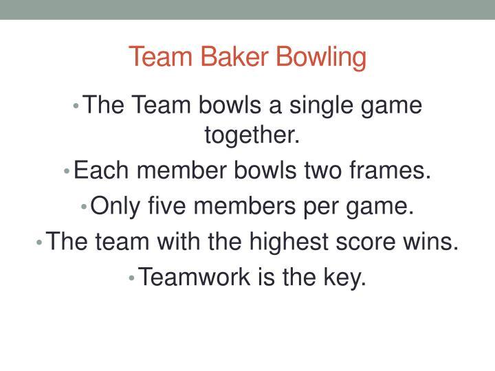 Team Baker Bowling