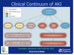 clinical continuum of aki