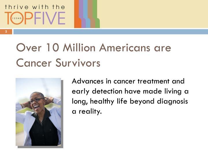 Over 10 million americans are cancer survivors
