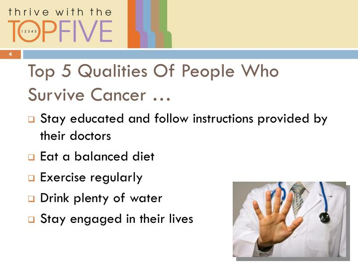 Top 5 Qualities Of People Who Survive Cancer …