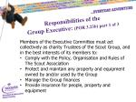 responsibilities of the group executive por 3 23b part 1 of 3