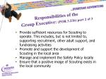 responsibilities of the group executive por 3 23b part 2 of 3