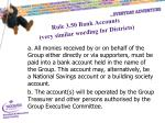 rule 3 50 bank accounts very similar wording for districts