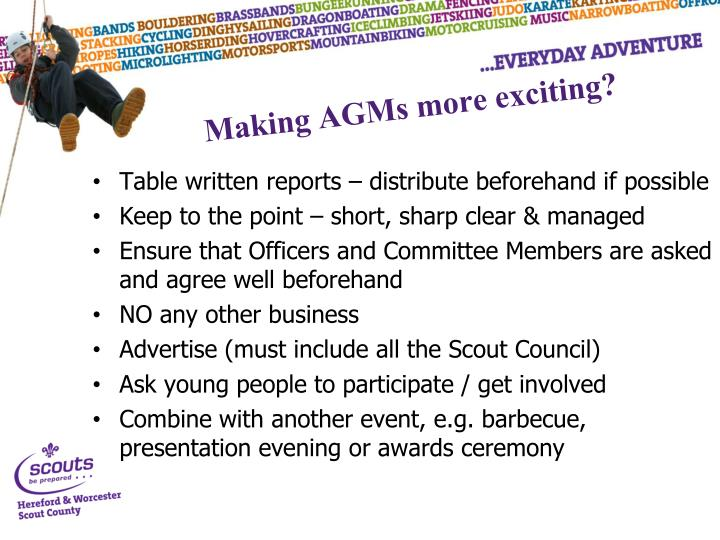 Making AGMs more exciting?