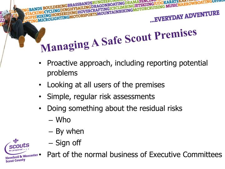 Proactive approach, including reporting potential problems