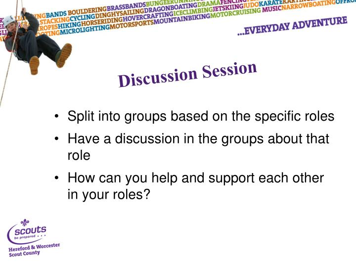 Split into groups based on the specific roles