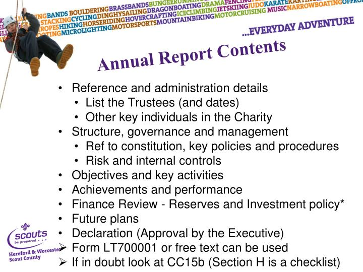 Reference and administration details