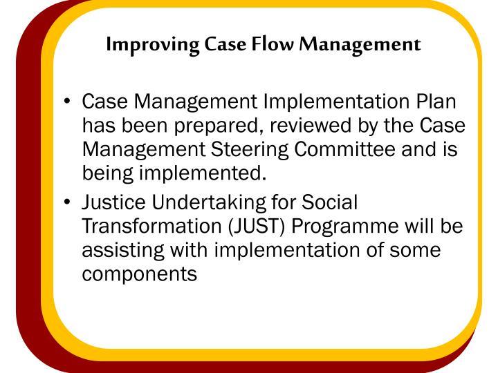 Improving Case Flow Management