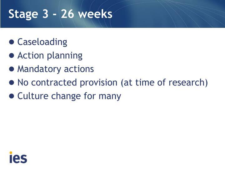 Stage 3 - 26 weeks
