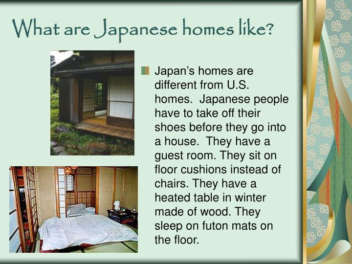 What are japanese homes like