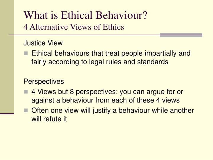 What is Ethical Behaviour?