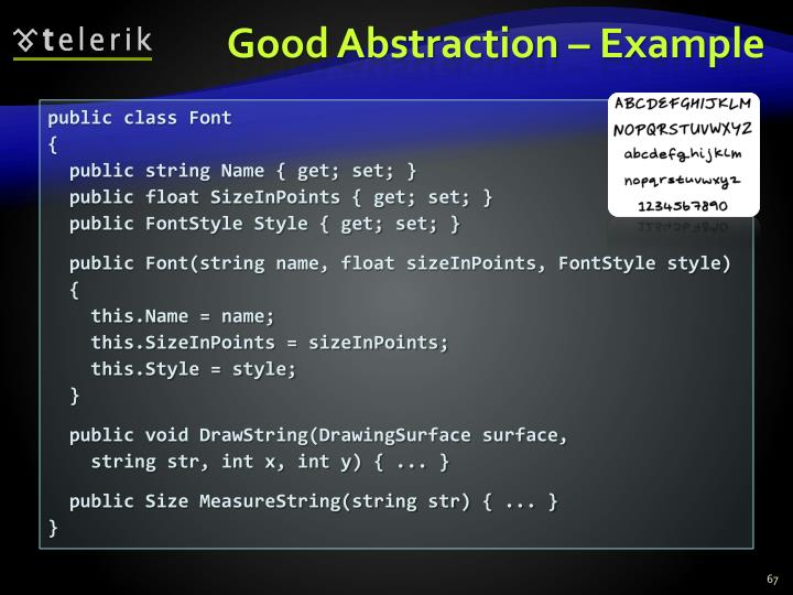 Good Abstraction – Example