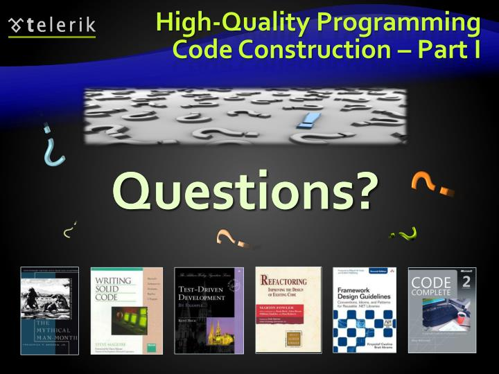 High-Quality Programming Code Construction – Part I
