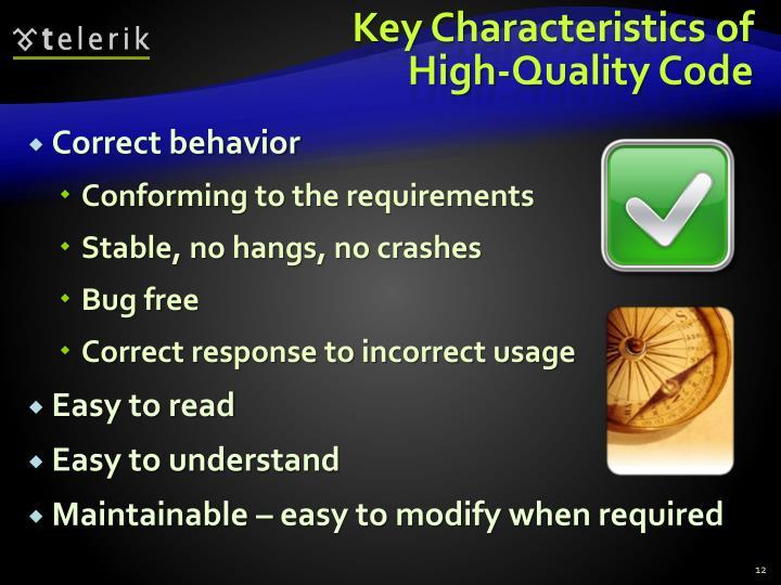 Key Characteristics of High-Quality Code