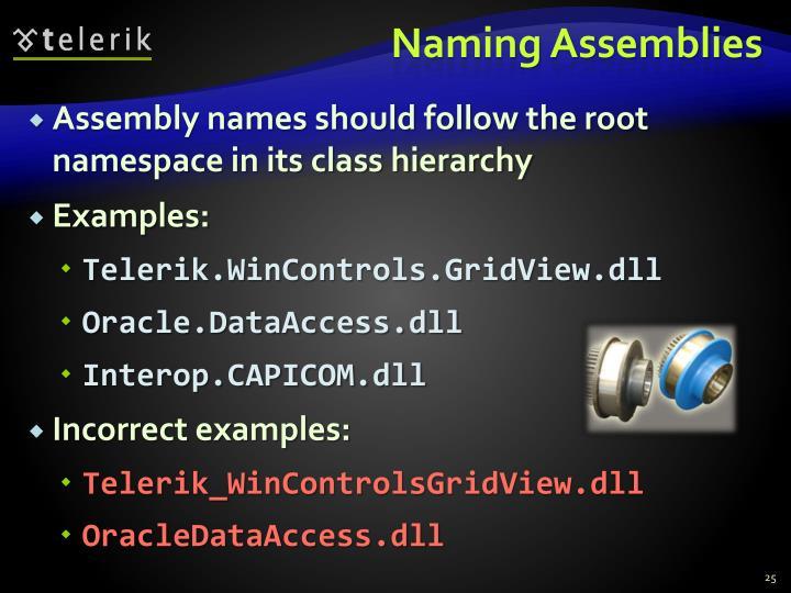Naming Assemblies
