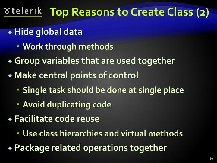 Top Reasons to Create Class (2)