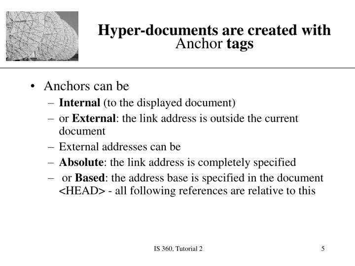 Hyper-documents are created with