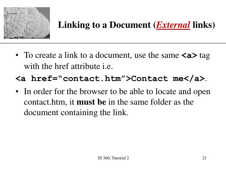Linking to a Document (