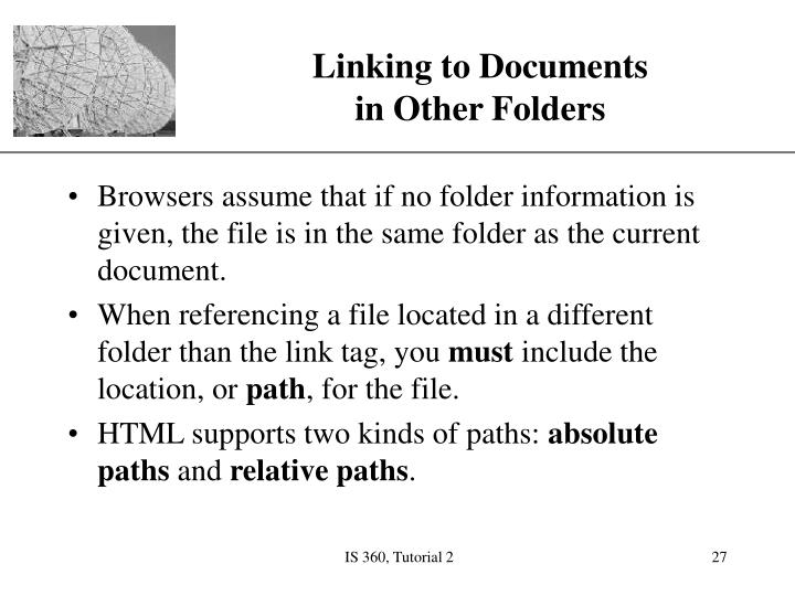 Linking to Documents