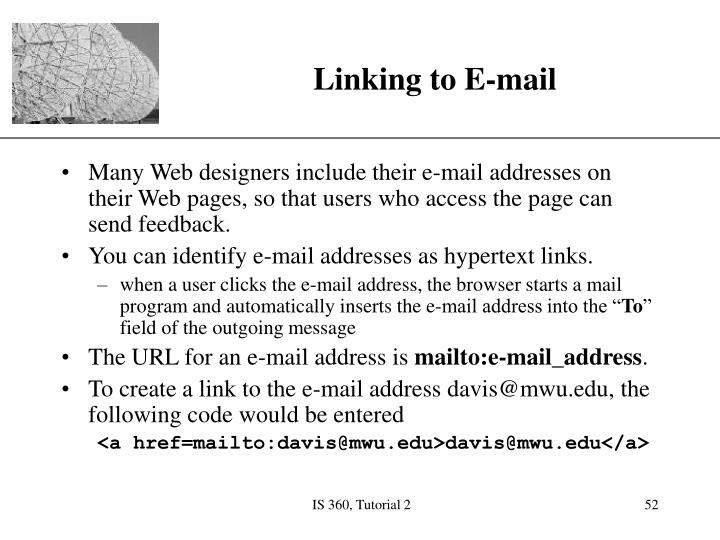 Linking to E-mail